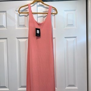 Fashion nova Peach/pink color midi dress with ties